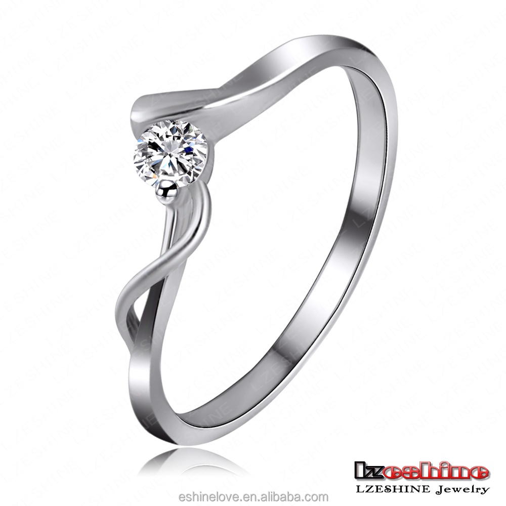product ring bridal stone white jewellery engagement gold wedding womens rings diamond cttw round