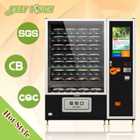 Self service selective LCD advertising display screen fresh fruit vegetable vending machine