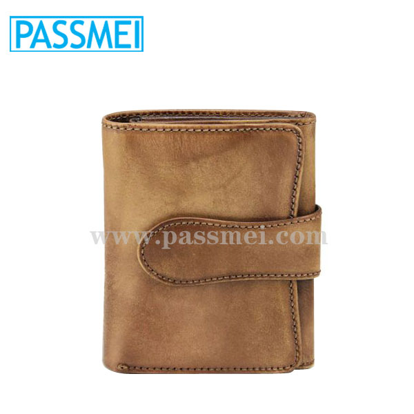 leisure crazy horse leather card wallet