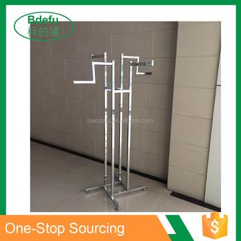 new 4 way straight arm clothes rail stand heavy duty shop display garment rack