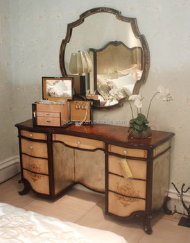 Vintage lacquer wooden Dressing Table, Antique Retro Bedroom ...
