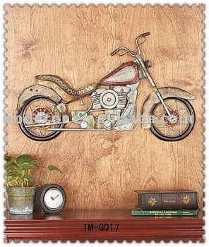 Nouveau design moto en fer forg d coration murale buy product on - Decoration murale en fer forge ...