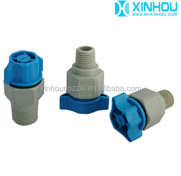 PCB cleaning plastic quick release veejet washing nozzle