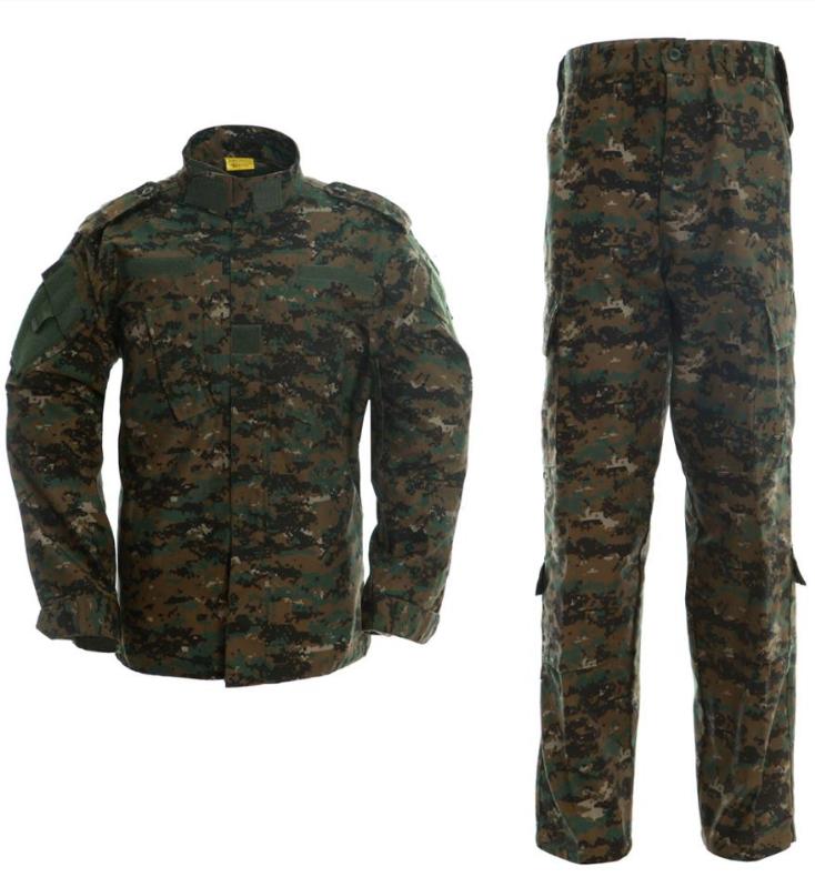 Digital Woodland Camouflage Army Uniform Tactical Suits  Military Dress Uniform