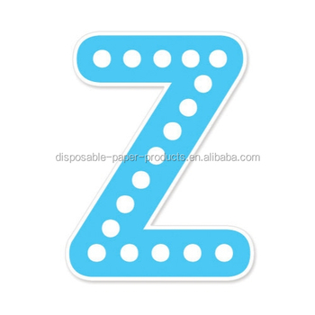 happy birthday banner blue z polkadots alphabet letters diy bunting