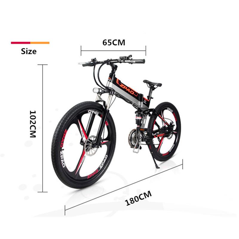 Integrated wheel Electric Bike 48v 350W 26 Inch 500W Bike Electric, Black;white optional