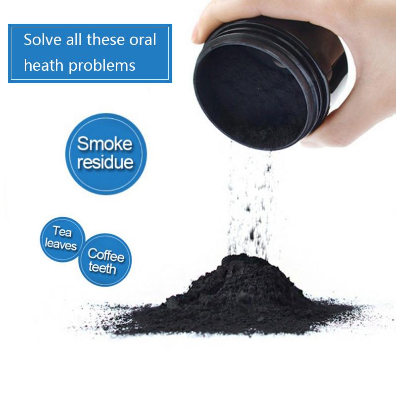 Vendita calda nero di carbonio in polvere di carbone attivo di bambù in polvere per lo sbiancamento dei denti