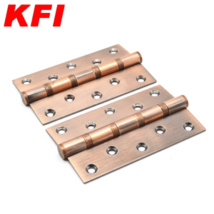 4 Inch Full Copper Wood butt door hinges for heavy Entry door hinge with 4 ball bearing Brass hinge