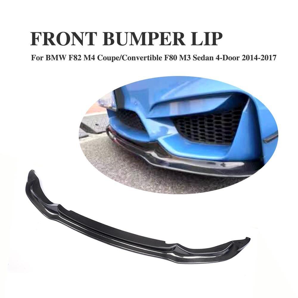 JCSPORTLINE Carbon Fiber Front Chin Spoiler for BMW 4 Series M3&M4 2014-2016(Fit:M3&M4)