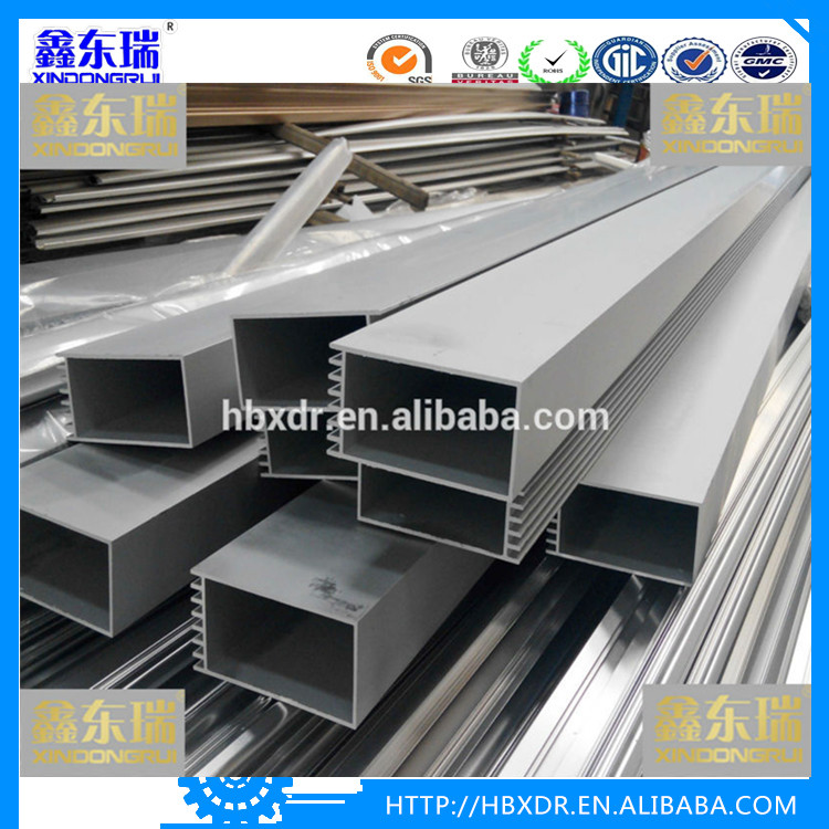 aluminum profile extrusion 6061and 6063 Aluminum square tube