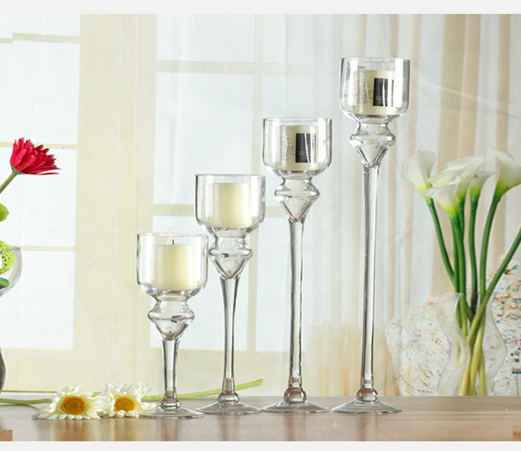 Cheap tall clear glass candle holder for wholesale buy for Cheap tall candlestick holders