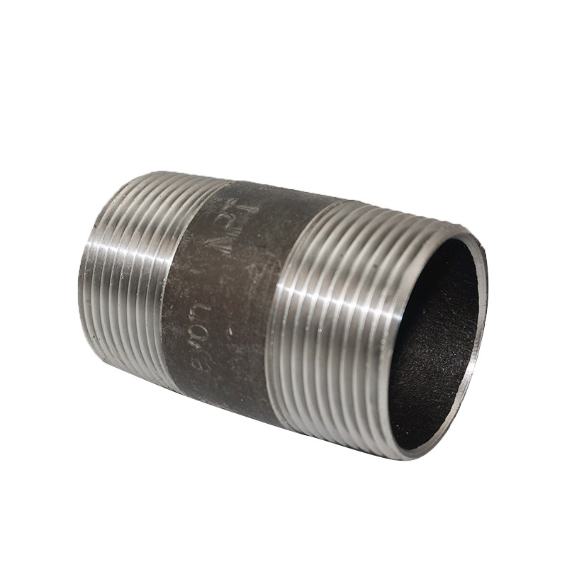 Steel Pipe Nipple Extension Nipple Long Threaded Pipes Home Decoration <strong>Fittings</strong>