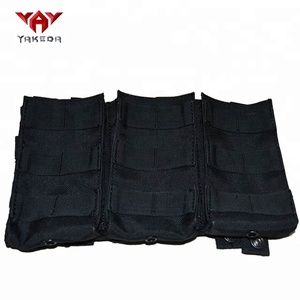yakeda 1000D nylon Triple Molle m4 AK MP5 hunting accessories Tactical magazine pouch
