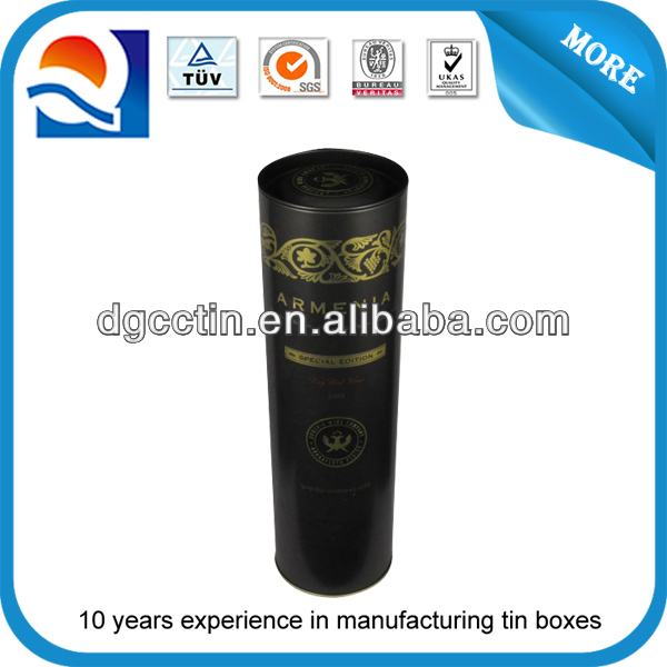 High quality beautiful air-tight small round tea tin can