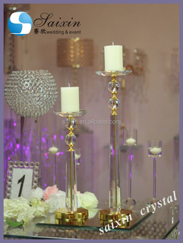 Hot Wedding Home Decoration Flower Stand Crystal Ball Candle Holder