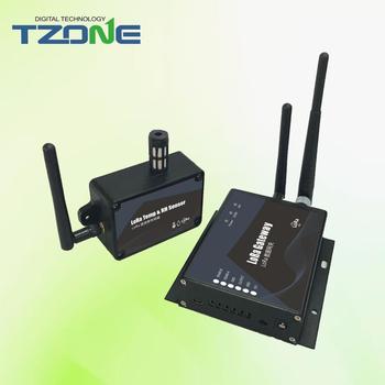 Modbus RTU wireless temperature and humidity monitoring LoRa gateway and  sensor, View LoRa gateway for temperature and humidity , Tzone Product