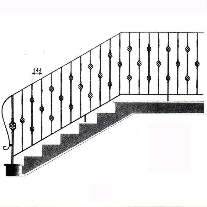 Staircase Safty Iron Metal Craft Used Baluster Mold