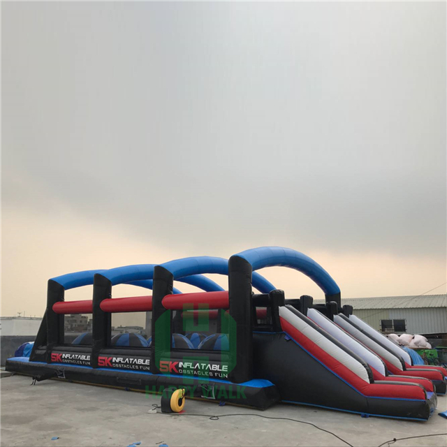 2017 New design giant train inflatable obstacle ,custom inflatable water obstacle course for sale