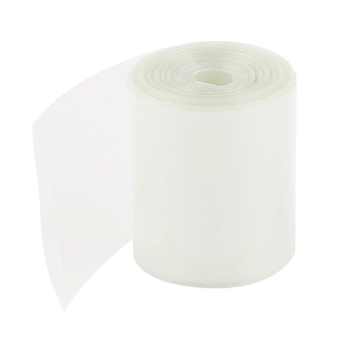 Heat Shrink Tube - SODIAL(R) 50mm Width PVC Heat Shrink Tubing Clear 5Meter for 2 x 18650 Batteries