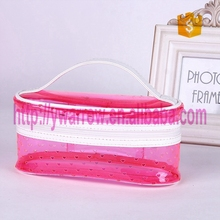 clear transparent PVC washing hand bag with hollow