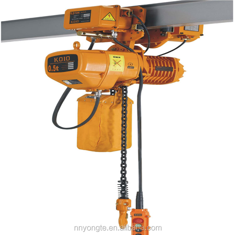 Good quality 0.5t kito chain hoist with trolley