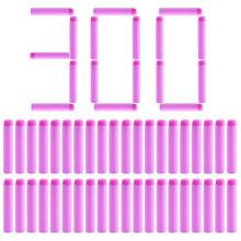 NFSTRIKE 300 шт. мягкие пули для женщин и девочек, однотонные пули из пенопласта для игрушечного пистолета Nerf, 7 см, бесплатная доставка(Китай)