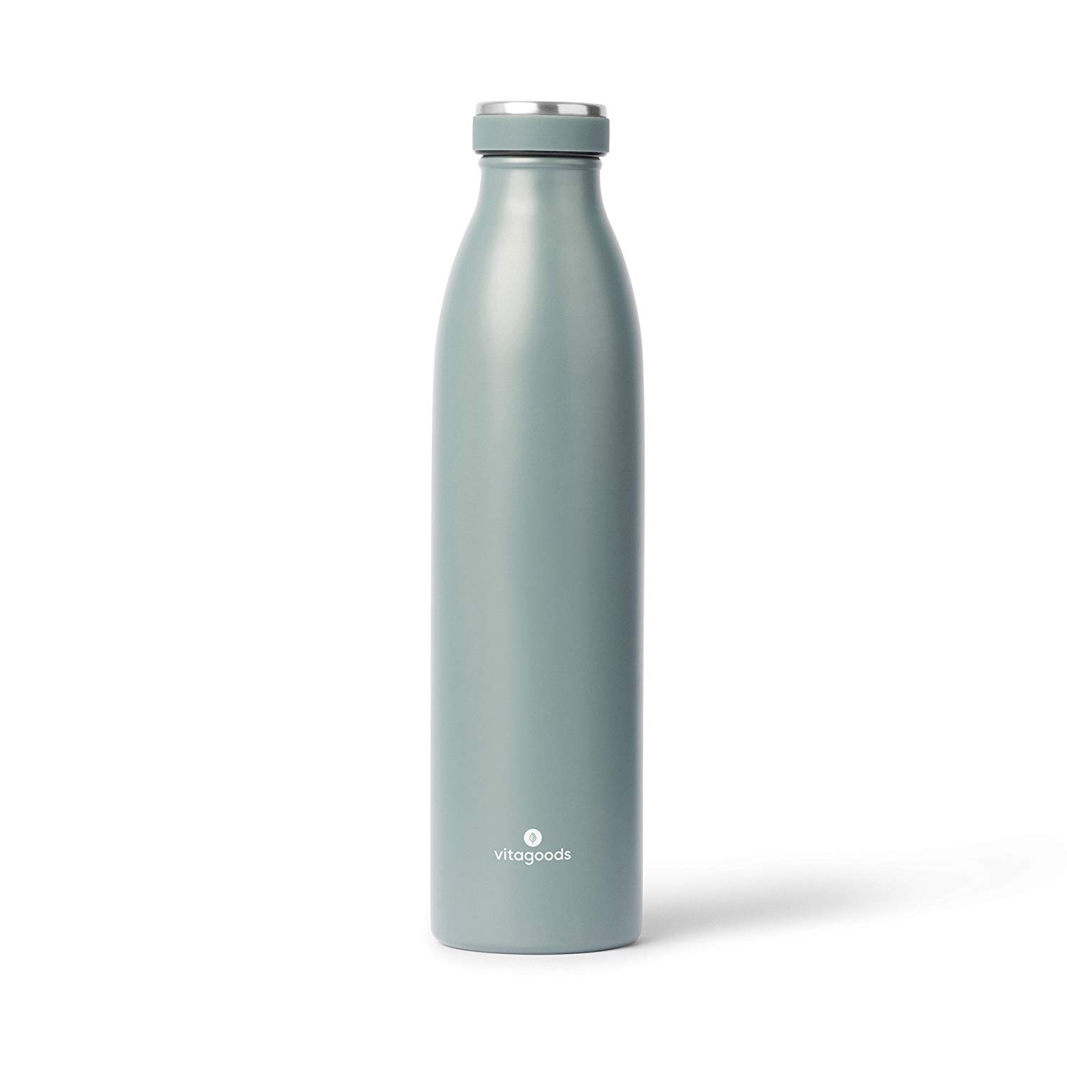 Vitagoods Spout Vacuum Sealed Stainless Steel Water Bottle, 750mL, Forest Green