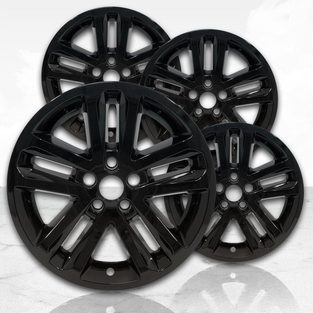 """18"""" Gloss Black Wheel Skins (Set of 4) for 2011-2017 Ford Explorer - 3859"""