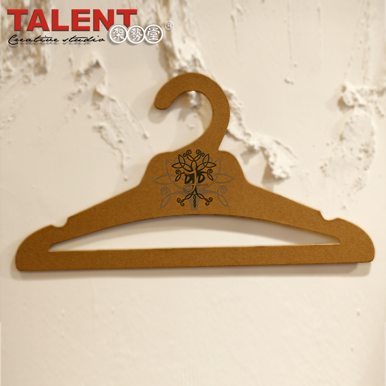 Customized professional good price of private printed coat hanger for advertisement