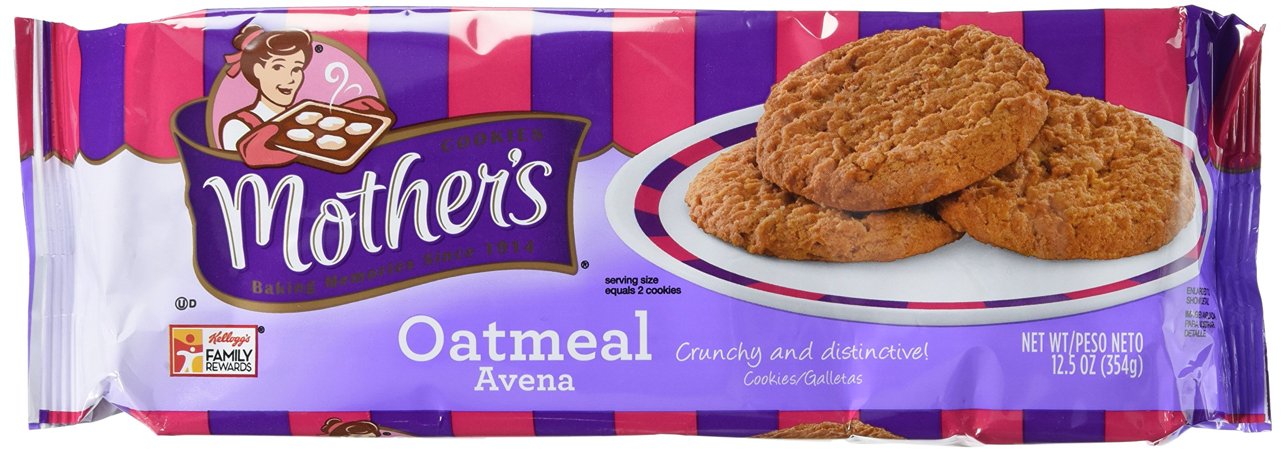 Mother's Oatmeal Cookies, 12.5-Ounce Packages (Pack of 4)