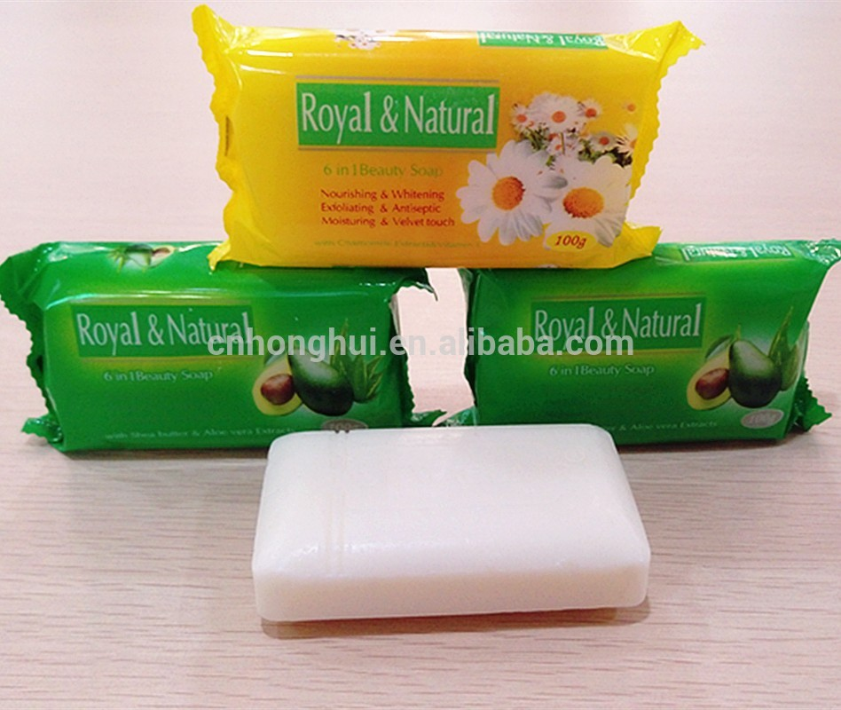 Natural Anti-septic Skin Whitening Bath Soap with Glycerin Goat Milk for Hotel / Beauty Fruit Pear Soap Noodle Brands Guangzhou