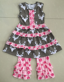 bbe0d6510a9a Baby boutique clothing wholesale children girl dress sets kids cotton  frocks design girls clothes sets