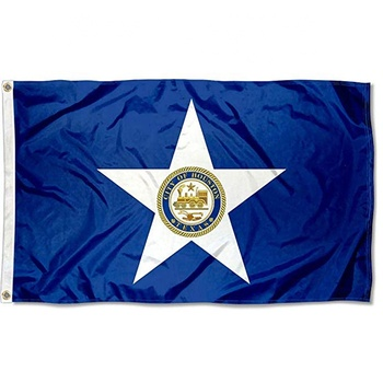 High Quality Stitched Flyends Sports Flags Pennants Company City of Houston Flag 3x5 Foot Banner