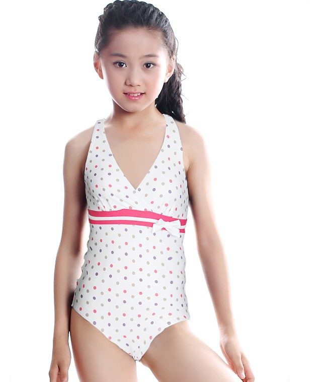 115240a8fb1b0 2-10 years new cute baby girls summer bathing suits 2016 summer white dots  print one pieces swimwear for kids free shipping   Nice plus size clothing  shop ...