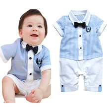 Hot selling baby clothing set baby set sky blue shirt top short pants boys vestido ropa