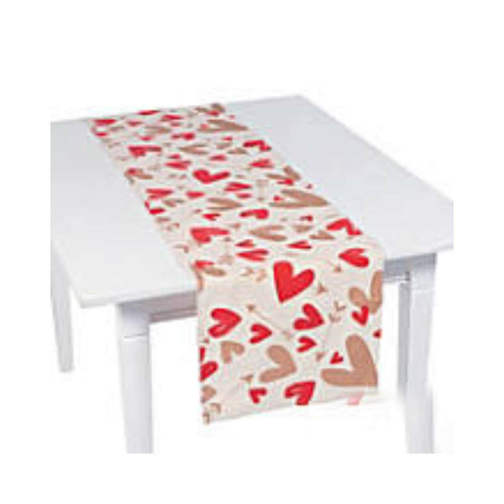 "1pc Valentine Table Runner Party Supplies 17"" x 90"""