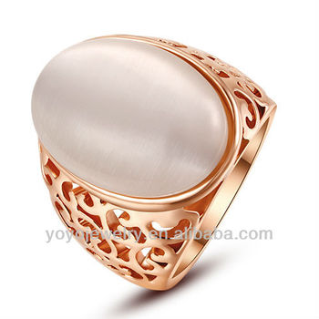 Jewelry Design Pakistan 14 Carat Gold Plated Big Stone Ring