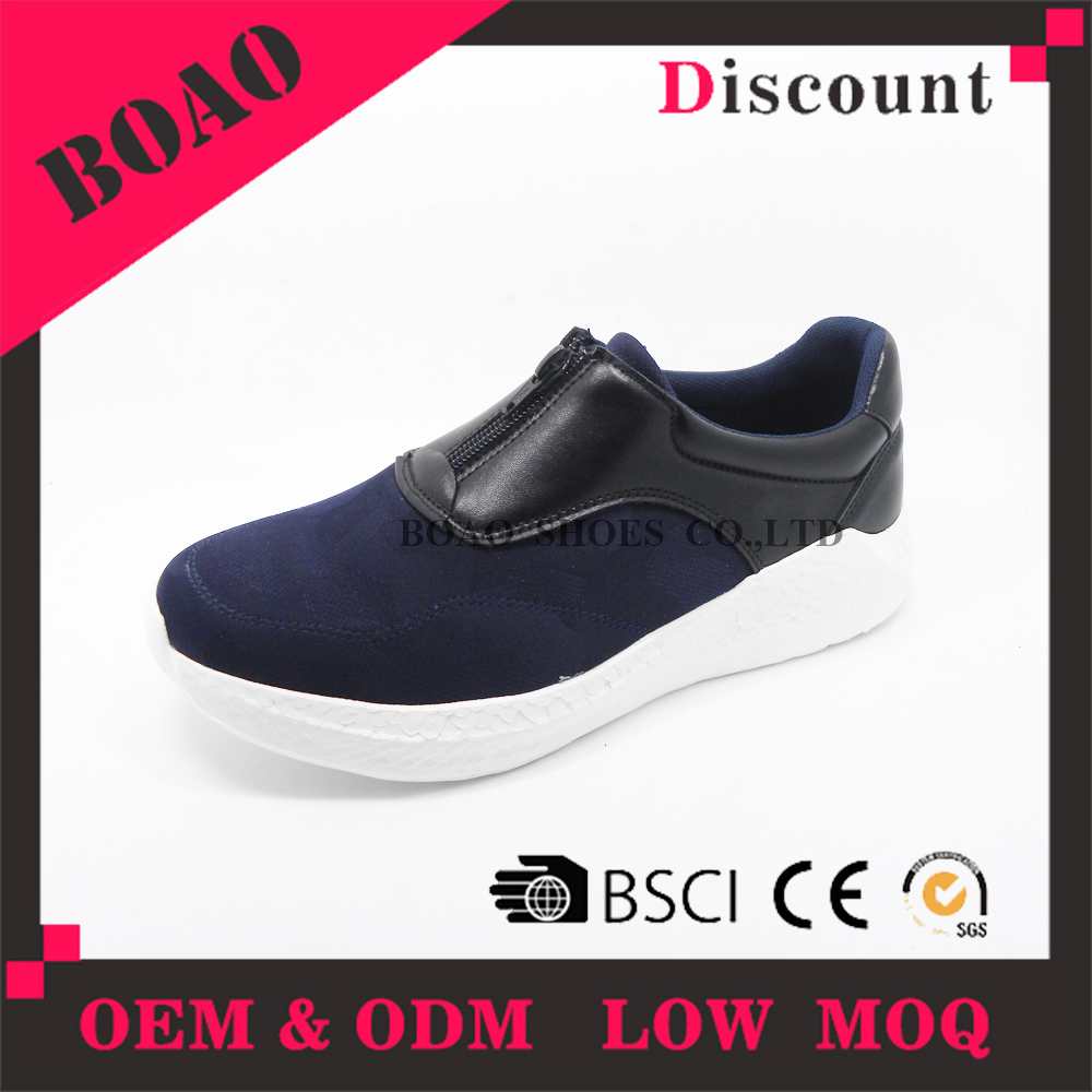 New style breathable zipper casual mens sneakers shoes to wear with jeans