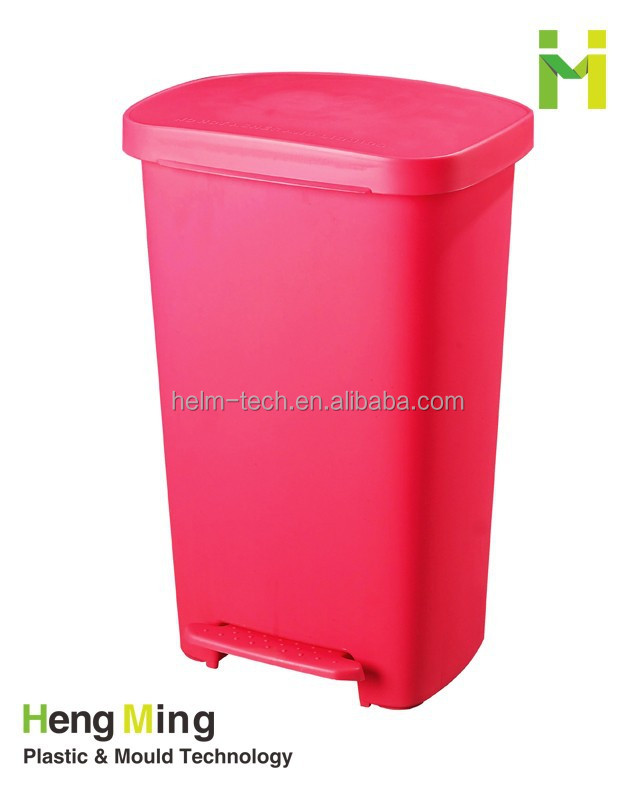 30L Colourful Novel Shaped Plastic garbage bin with Pedal for Sale