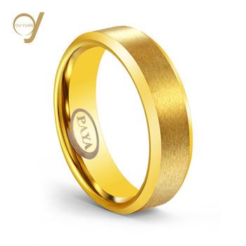 Alibaba Classic Men S Wedding Band 6mm Gold Ip Plating Tungsten