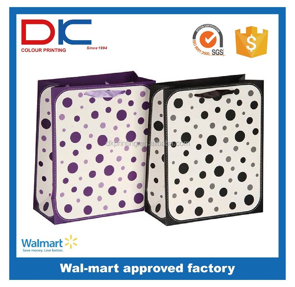 Cheap promotional simple design foldable gift paper bag