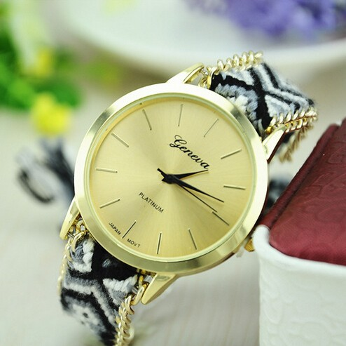 Most Stylish handmade Chain strap Rope braided watch with knitted strap 2015 new
