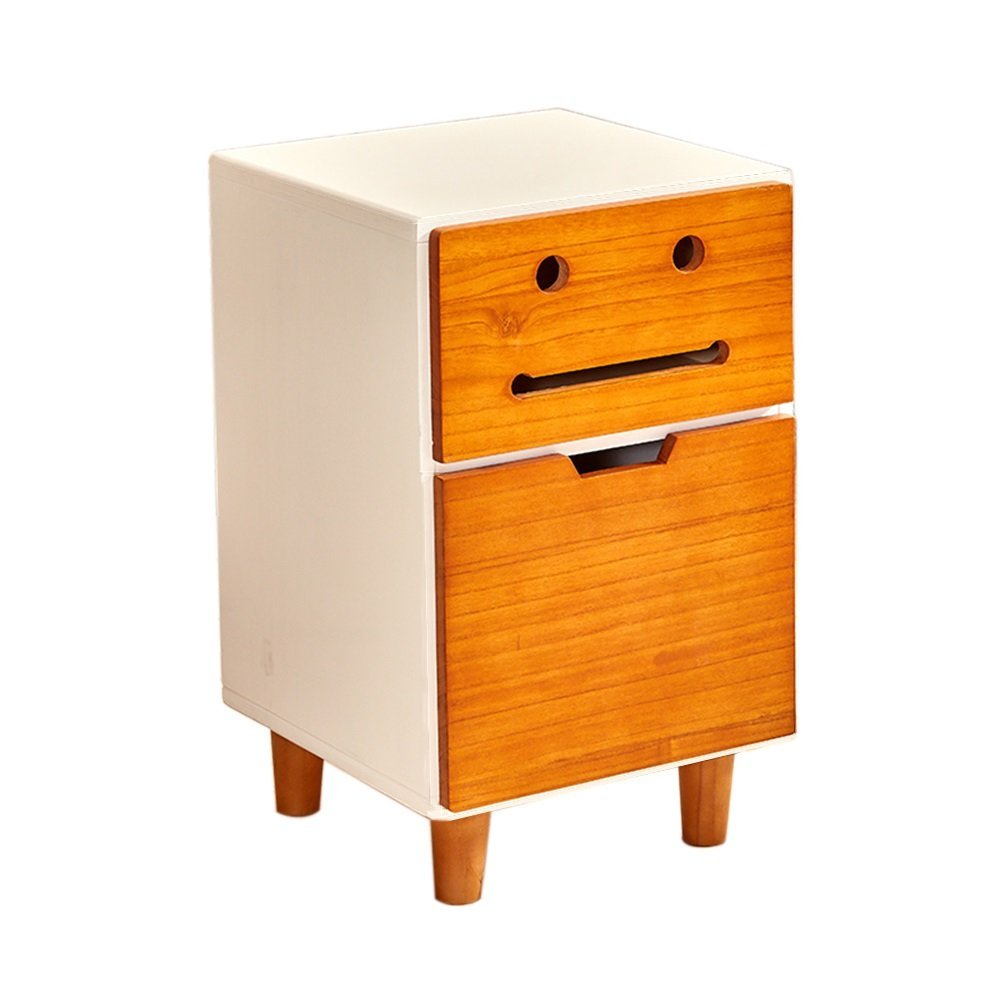 AiHerb.LT nightstand Bedside Table Solid Wood Coffee Table Sofa Side Tables Bedroom Storage Cabinet Bedside Drawers Lockers Modern Bedroom Table Furniture (Color : A-3533.556)