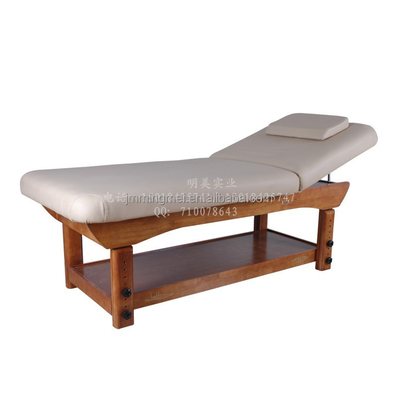 Professional Patented Design wooden facial massage bed for salon furniture,Adjustable tattoo bed