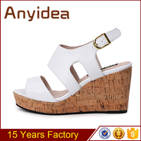 Raynal wholesale 2016 high platform ankle strap sandals comfortable wedge high heel women shoes
