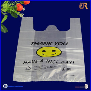 plastic singlet bag/singlet shopping bag/singlet handle plastic bag