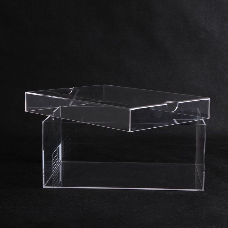 Acrylic Shoe Boxes : Crystal perspex acrylic display box for shoe