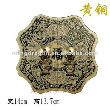 Furniture Brass Hardware Chinese Cabinet Face Plate Door Handle Copper
