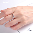 Latest design wholesale custom value jewelry women wedding promise couple diamond 925 sterling silver Tat ring