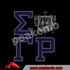 Sigma Gamma Rho Shield Crystal Rhinestone Transfer Iron On Tshirts